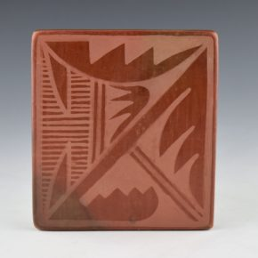 Blue Corn – Red Tile with Rain Design (1960's) (13)