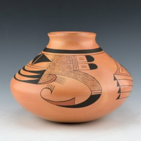 Clashin, Debbie – Jar with Bird Wind Designs