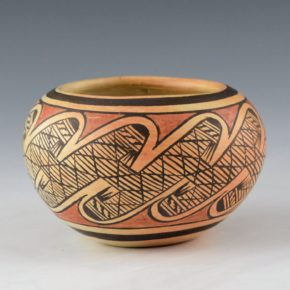 Nampeyo, Elva Tewaguna – Bowl with Migration Pattern (1970's)