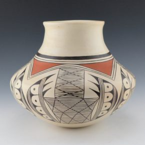 "Naha, Helen ""Feather Woman – Water Jar with Bat Wing Design (1970's)"