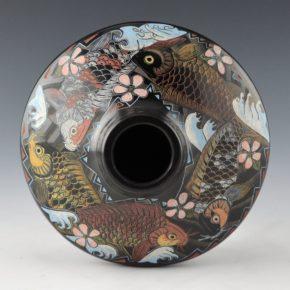 Moquino, Jennifer Tafoya – Jar with Four Koi & Waves