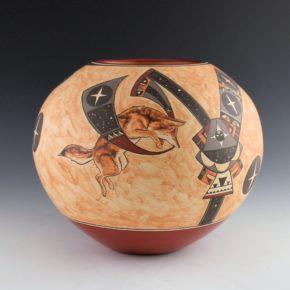 "de la Cruz, Juan and Lois Gutierrez  – ""Coyote and the Stars"" Bowl"