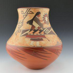 """de la Cruz, Juan and Lois Gutierrez  – """"Old Wind Mother"""" Water Jar"""