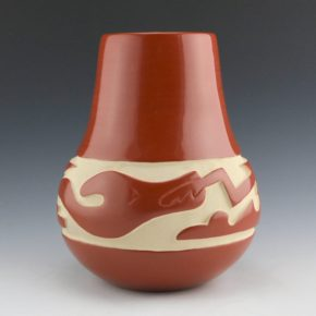 Tafoya, LuAnn – Red Water Jar with Avanyu