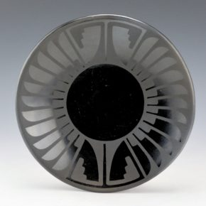 Martinez, Maria – Feather and Bird Wing Plate (Maria + Popovi)