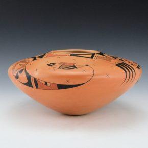 Tahbo, Mark & Debbie Clashin – Wide Jar with Hopi & 'Tahbo' Birds