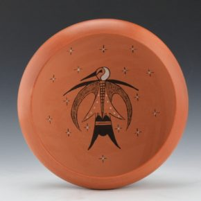 Tahbo, Mark & Debbie Clashin – Open Bowl with Hummingbird Design