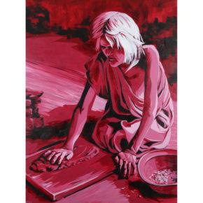 """Allison, Marla – """"Preparation of Clay: Nampeyo of Hano"""" Original Acrylic"""