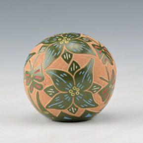 Tafoya, Ray  – Green Seedpot with Butterflies & Flowers