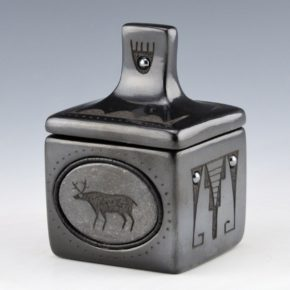 Sanchez, Russell  – Gunmetal Box with Deer Medallions