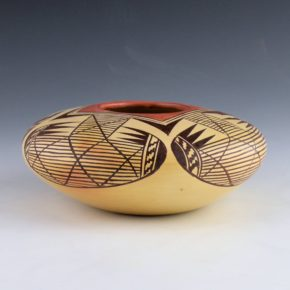 Nampeyo, Adelle L. –  Wide Shoulder Bat Wing Design Bowl