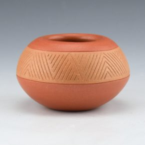 Curran, Alvin – Bowl with Incised Mountain Design