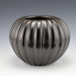 Baca, Angela – Round Melon Bowl with 24 Ribs