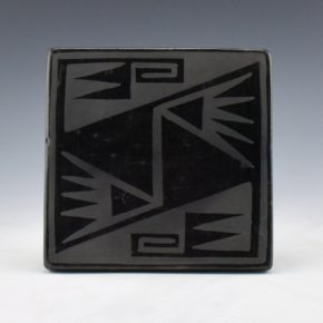 Blue Corn – Black Tile with Bird Wings  (1960's) (#19)
