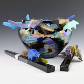 House, Conrad – Modern Fetish Bowl and Prayer Sticks (1988)