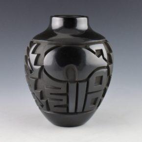 Begay, Daniel – Tall Jar with Bears and Geometrics