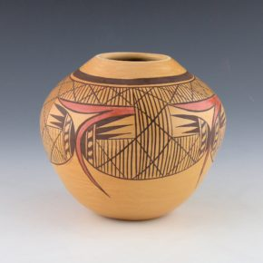 Nampeyo, Eiva L. –  Bowl with Bat Wing Design Bowl