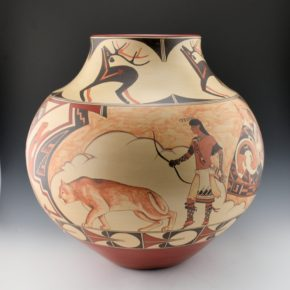 "de la Cruz, Juan and Lois Gutierrez  – ""Mountain Lion"" Storage Jar"