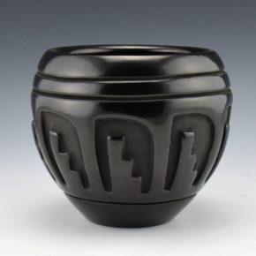 Singer, Mary – Bowl with Carved Feather Design