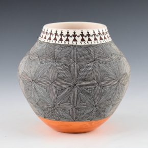 Lucario, Rebecca – Fineline Jar with Mimbres Figures