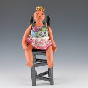 Fields, Anita – Articulated Clay Figure and Chair