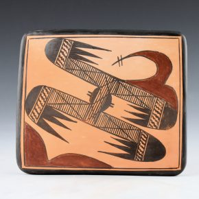 Sahmie, Jean – Tile with Bird Wing Designs