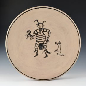 Aguilar, Joe – Plate with Koshari Clown and Dog (1950's)