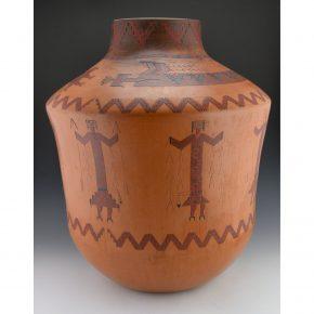 Williams, Lorraine – Large Storage Jar with Eight Yei Figures
