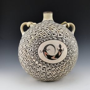 Lewis, Lucy – Large Double Sided Canteen with Lizard & Bird Wing Designs (1970's)