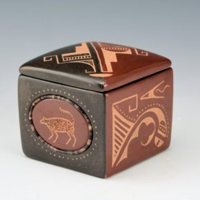 Sanchez, Russell  – Polychrome Mountain Lion Box