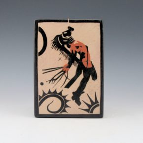 "Ortiz, Virgil – ""Pueblo Revolt Warrior: 1680/2180"" Tile"