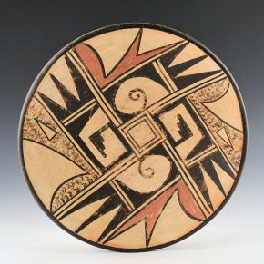 Cheeda, Zella – Plate with Geometric Designs (1970's)