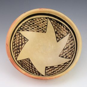 Chapella, Grace – Open Bowl with Checkerboard Star Pattern (1960's)