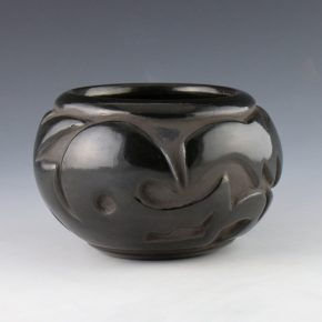 Shupla, Helen – Bowl with Carved Avanyu (1970's)