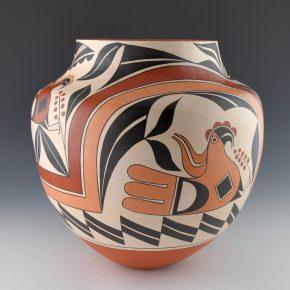 Cerno, Joseph  – Four Color Water Jar with Acoma Birds (2004)