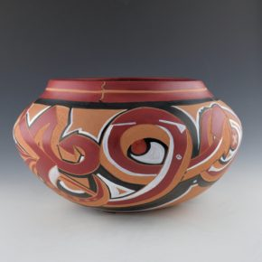 Folwell, Kaa – Large Grafiti Style Clouds and Lightning Design Bowl