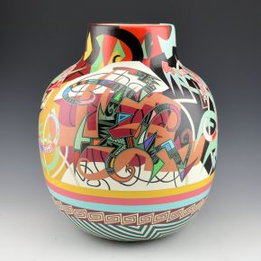 "Namingha, Les – Tall ""Urban Polychrome"" Jar"