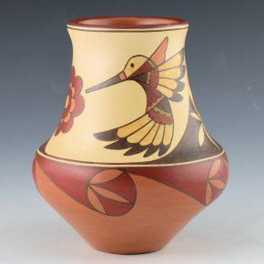 Gutierrez, Lois  – Water Jar with Hummingbirds