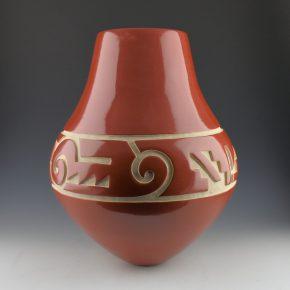 Tafoya, LuAnn – Tall Jar with Cloud and Mountain Designs