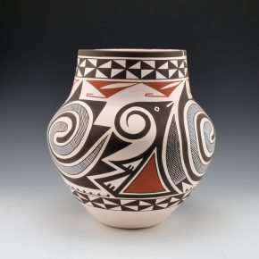 Sarracino, Myron – Jar with Water Swirls and Avanyu Pattern