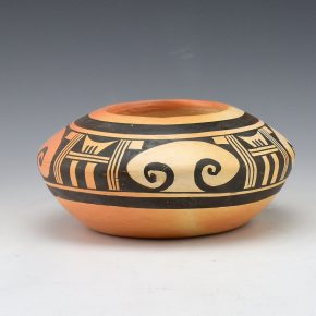 Nampeyo, Nellie – Wide Bowl with Eagle Tail Designs