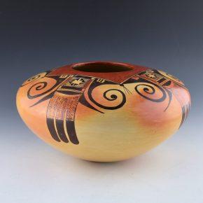 Nampeyo, Priscilla Namingha – Large Eagle Tail Bowl (1990's)