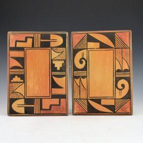 Adams, Sadie – Tile Pair with Geometric Designs