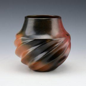 Manymules, Samuel  – Small Sharp Melon Rib Swirl Jar