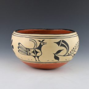 Melchor, Santana – Wide Bowl with Birds (1970's)