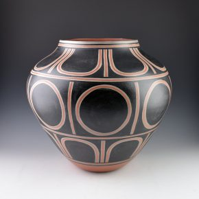Tenorio, Thomas – Large Jar with Sun & Rain Designs