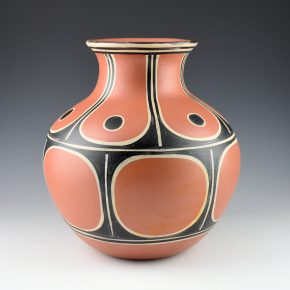 Tenorio, Thomas – Water Jar with Sun & Flower Designs