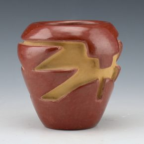 Tafoya, Agapita – Jar with Carved Cloud and Feather Designs (1950's)