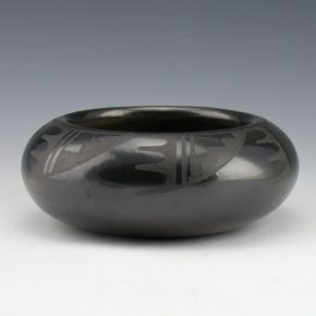 Blue Corn –  Wide Bowl with Rain and Cloud Designs (1960's)