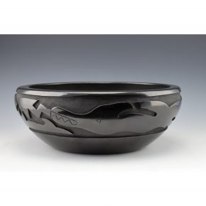 Whitegeese, Daryl  – Oval Bowl with Avanyu